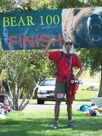 Moments after finishing the Bear 100 in 2008 in 31:24:56.