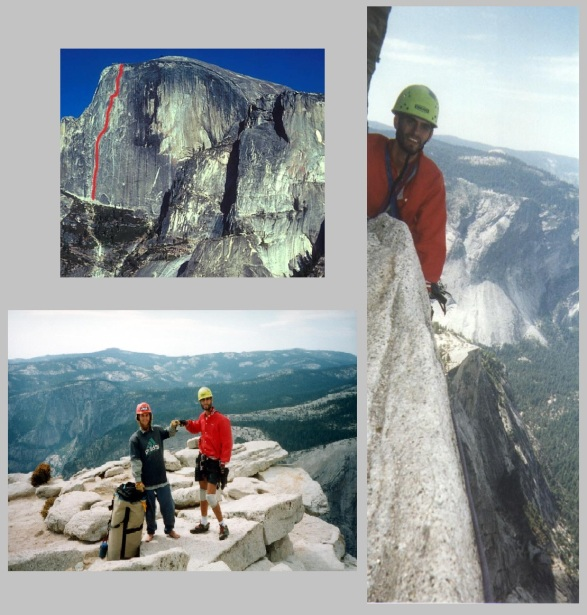 In August 2000 Riley Swift and Brian Gonzales climbed the Regular Northwest Face route of Half Dome in Yosemite.