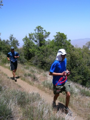 PCT 50 2008. Me on the right and my pacer Riley on the left.