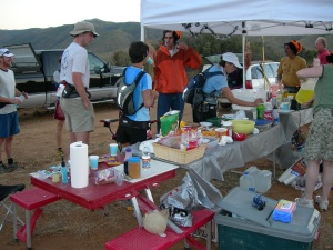 Volunteering was awesome at the Chariot Canyon aid station (SD100 2005).
