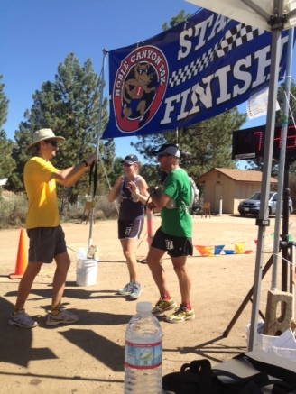 Tracy Johnston completes her first ultramarathon at the Noble Canyon 50k - 2013