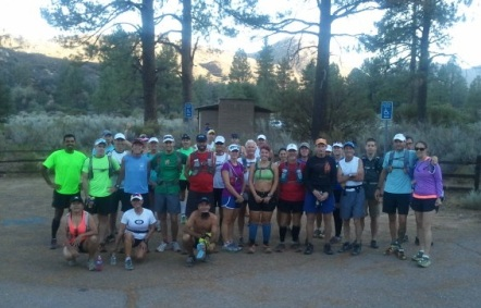 Over 30 runners came out to the training run (photo by Wade Blomgren).