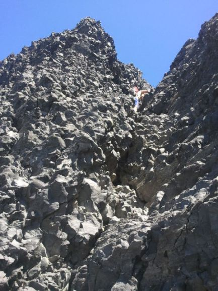 Look close for the climber that I was about to follow.