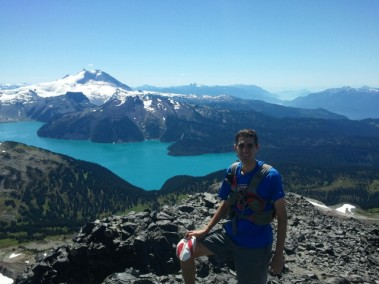 Me on top of Black Tusk! Garibaldi lake in the background.
