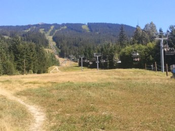 Ski slopes of Whistler, BC