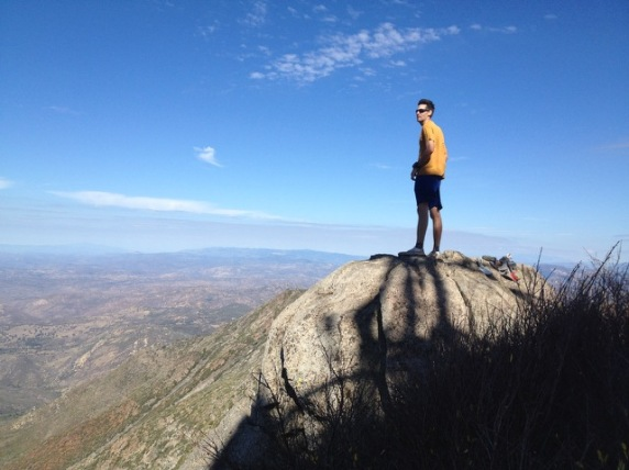 Brian at the high-point of the course; Cuyamaca Peak.
