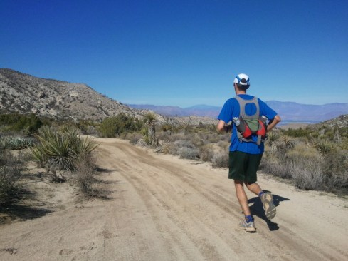 Running along the top of the Pinyon Mountain section (approximately mile 10.3 in the race).